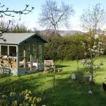Enjoy a cuppa in the summerhouse