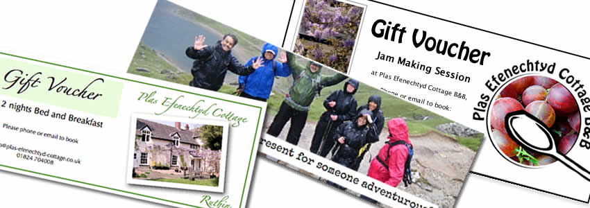 Gift vouchers for something different
